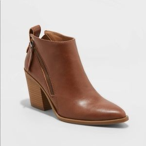 UNIVERSAL THREAD Tan Brown Pointed Heeled Boots